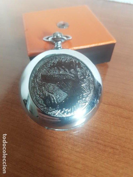 Relojes: Reloj de bolsillo Ruso marca Molnija con segundero a las 9 horas con caja de acero y repujada - Foto 2 - 191298983