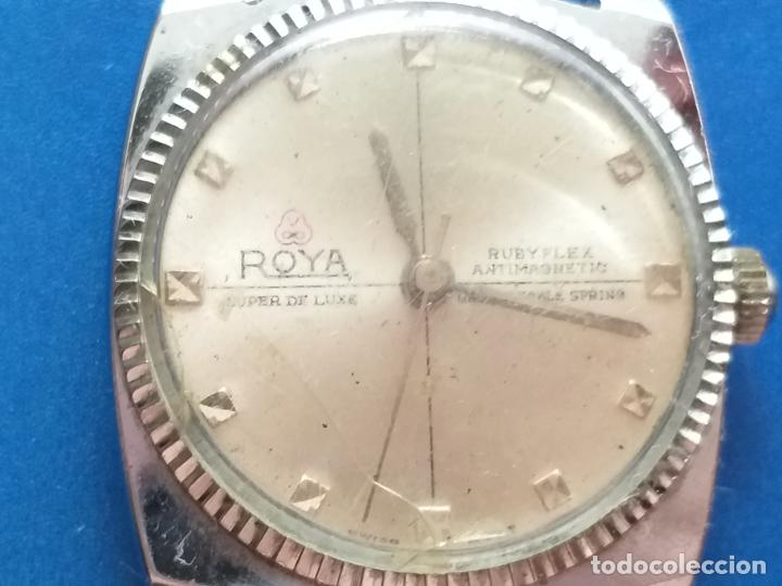 Relojes: Reloj antiguo Roya Super de Luxe. Ruby flex antimagnetic. Dwiss movm - Foto 2 - 191375922