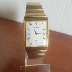 Relojes: RELOJ (UNISEX) MARCA PULSAR DE CUARZO CHAPADO DE ORO CON CORREA CHAPADA DE ORO, ESFERA BLANCA . Lote 191504012