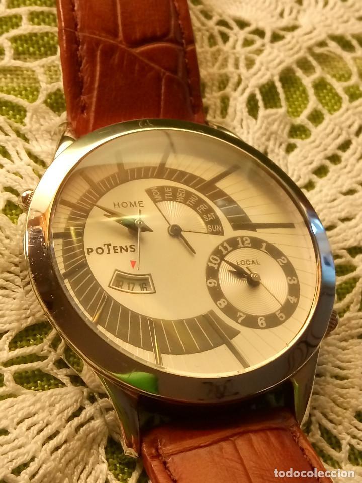 Relojes: RELOJ POTENS - QUARZT. FUNCIONANDO. 2 MAQUINAS. 2 BATERIAS NUEVAS. 5 AÑOS. DESCRIPCION Y FOTOS. - Foto 2 - 191672151