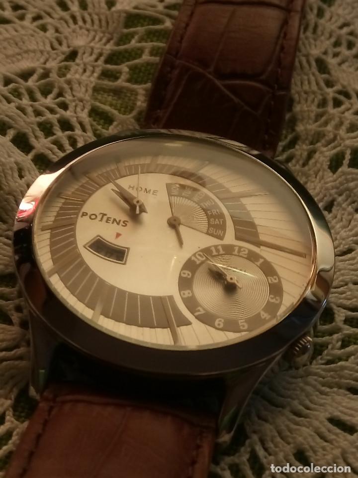 Relojes: RELOJ POTENS - QUARZT. FUNCIONANDO. 2 MAQUINAS. 2 BATERIAS NUEVAS. 5 AÑOS. DESCRIPCION Y FOTOS. - Foto 3 - 191672151