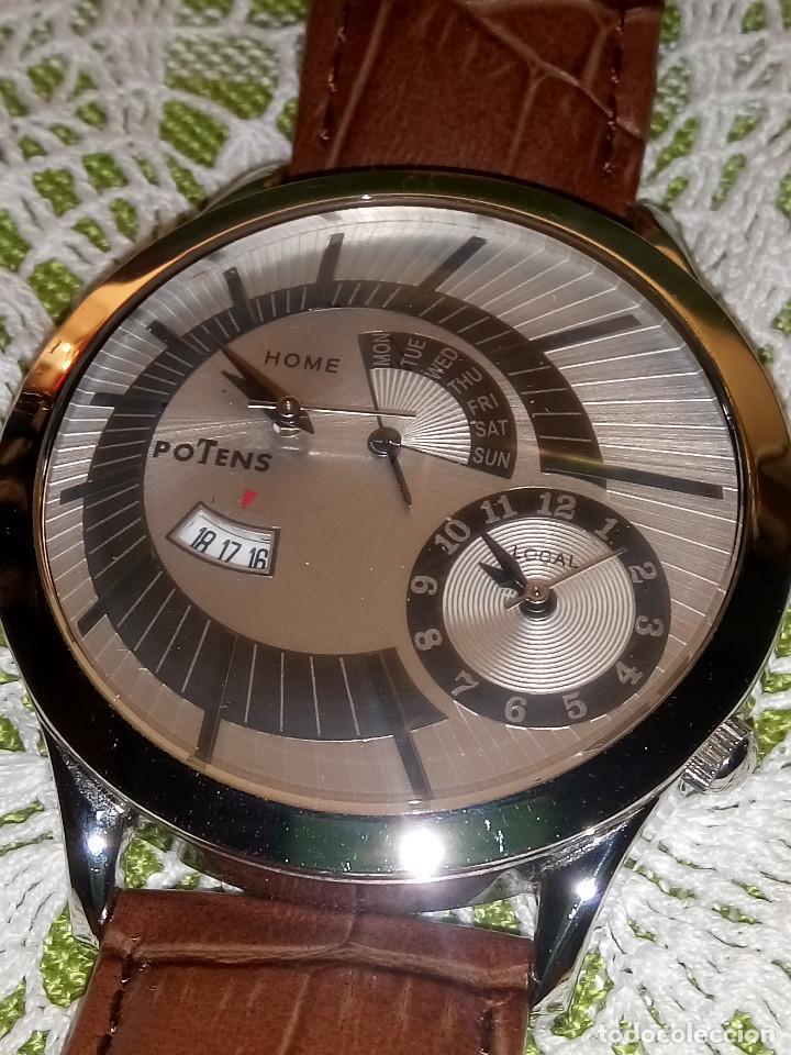 Relojes: RELOJ POTENS - QUARZT. FUNCIONANDO. 2 MAQUINAS. 2 BATERIAS NUEVAS. 5 AÑOS. DESCRIPCION Y FOTOS. - Foto 4 - 191672151