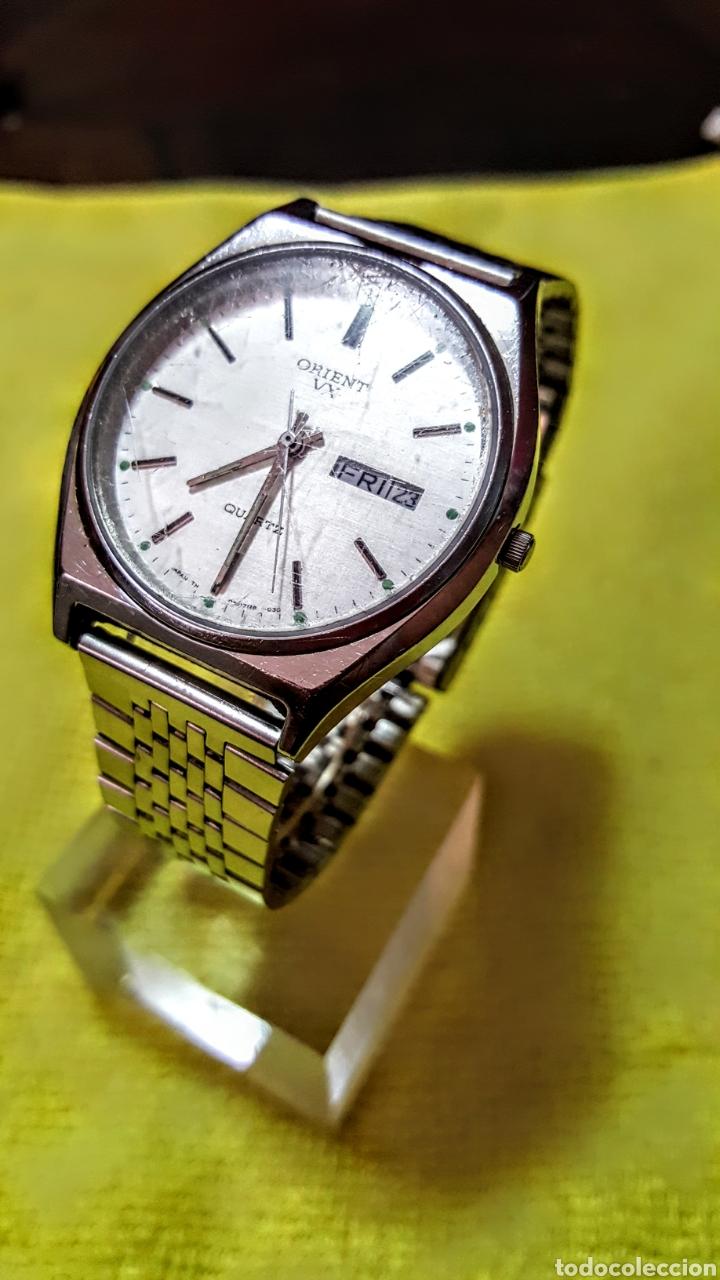 Relojes: Reloj ORIENT DOBLE CALENDARIO CUARZO FUNCIONA PERFECTAMENTE DIÁMETRO 35.5 MILIMETROS - Foto 2 - 191759793