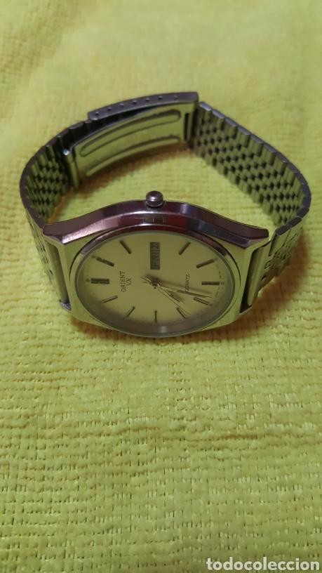 Relojes: Reloj ORIENT DOBLE CALENDARIO CUARZO FUNCIONA PERFECTAMENTE DIÁMETRO 35.5 MILIMETROS - Foto 4 - 191759793