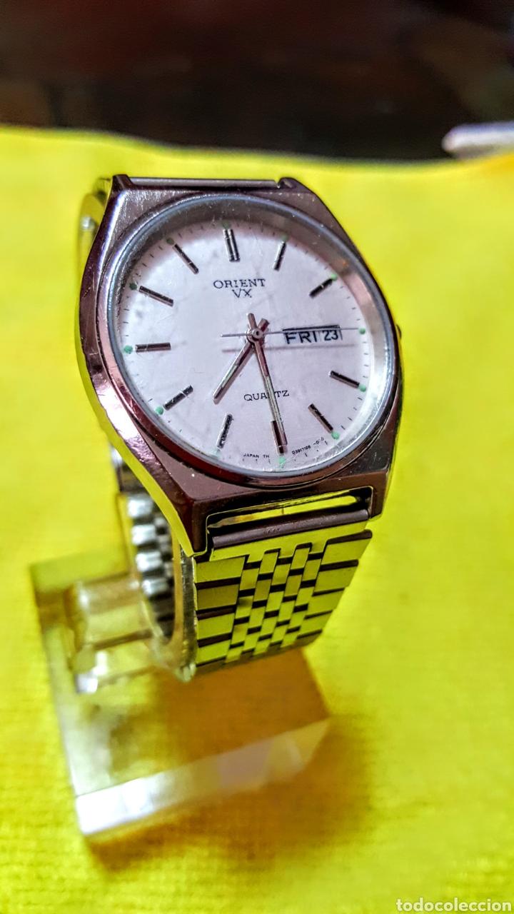 Relojes: Reloj ORIENT DOBLE CALENDARIO CUARZO FUNCIONA PERFECTAMENTE DIÁMETRO 35.5 MILIMETROS - Foto 7 - 191759793