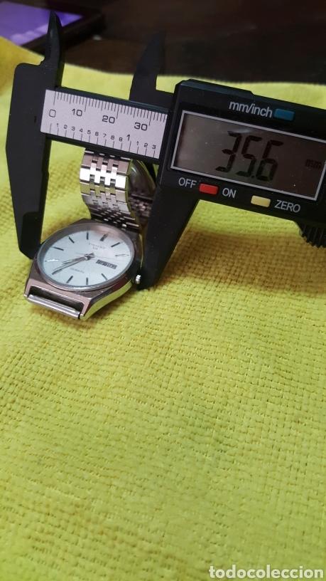 Relojes: Reloj ORIENT DOBLE CALENDARIO CUARZO FUNCIONA PERFECTAMENTE DIÁMETRO 35.5 MILIMETROS - Foto 8 - 191759793