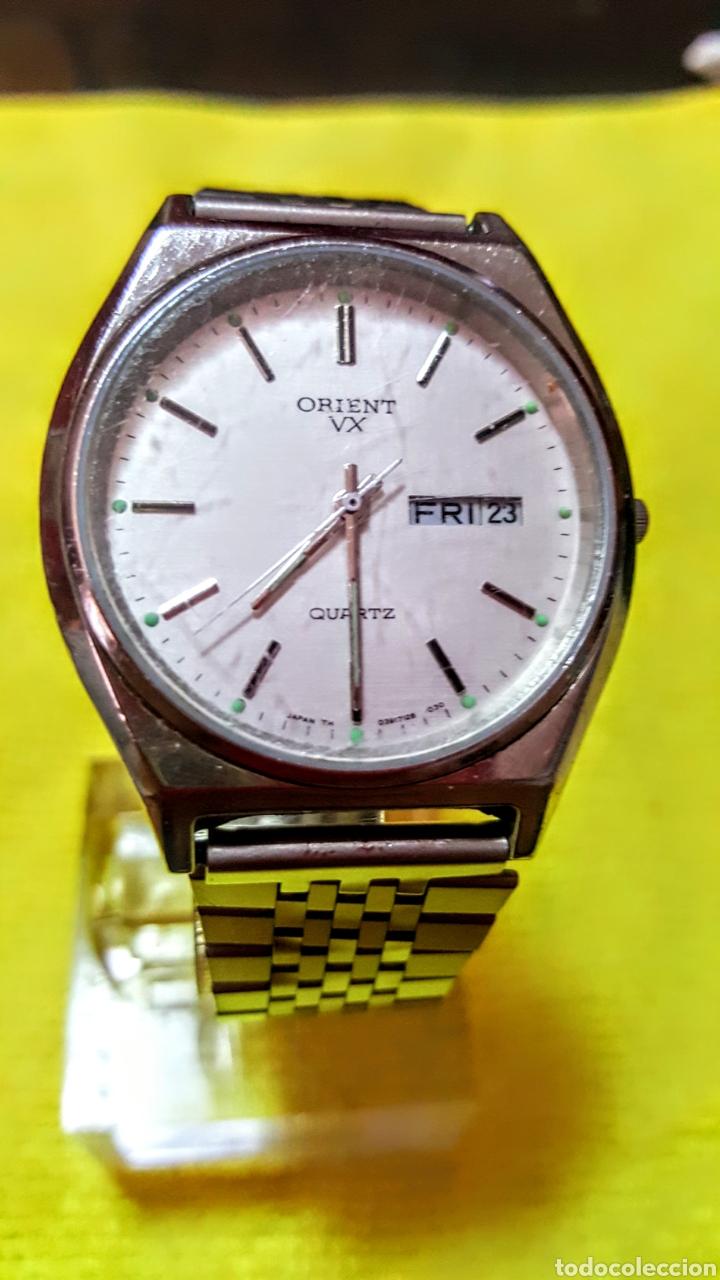 RELOJ ORIENT DOBLE CALENDARIO CUARZO FUNCIONA PERFECTAMENTE DIÁMETRO 35.5 MILIMETROS (Relojes - Relojes Actuales - Otros)