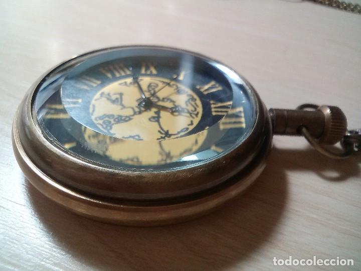 RELOJ BOLSILLO CAJA LATON CON CRISTAL BISELADO. (Relojes - Relojes Actuales - Otros)