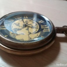 Relojes: RELOJ BOLSILLO CAJA LATON CON CRISTAL BISELADO.. Lote 191935370