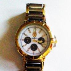 Relojes: ELEGANTE RELOJ DE CABALLERO PULSERA DE QUARTZ - FERRARI - BAÑO DE ORO Y ACERO ALTA CALIDACD.. Lote 202288963