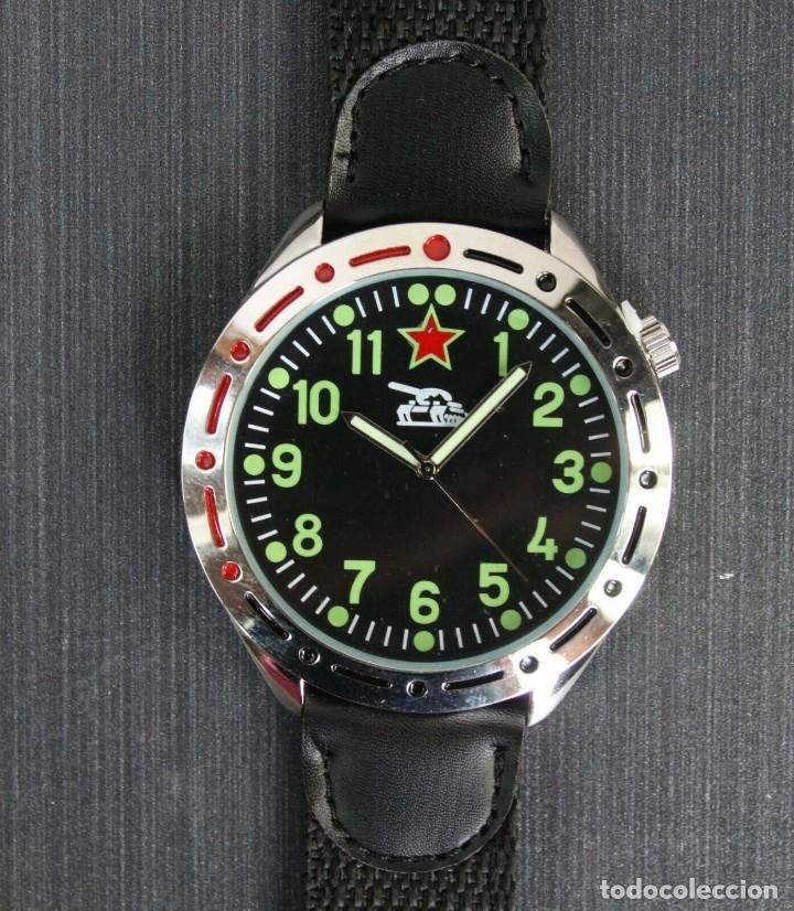 RELOJ MILITAR COMANDANTE DE TANQUES RUSO - TANK 1980 NUEVO EN CAJA - ESFERA 38.MM DIAMETRO (Relojes - Relojes Actuales - Otros)