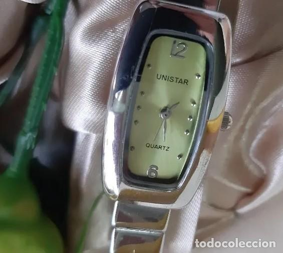 Relojes: Reloj de lujo Unistar para damas, en estuche de regalo, caja rectangular. A ESTRENAR - Foto 2 - 192590755
