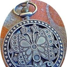 Relojes: RELOJ BOLSILLO BUTERFLAY. Lote 192991847