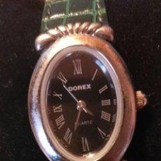 Relojes: RG 26 RELOJ PULSERA DOREX QUARTZ CON PILA - CORREO ACHAROLADA VERDE - NO FUNCIONA - PILA GASTADA??. Lote 193324082