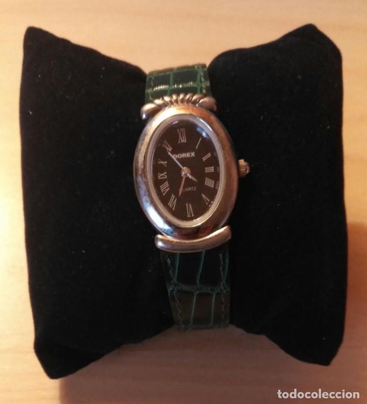 Relojes: Rg 26 Reloj pulsera DOREX Quartz con pila - Correo acharolada verde - No funciona - Pila gastada?? - Foto 2 - 193324082