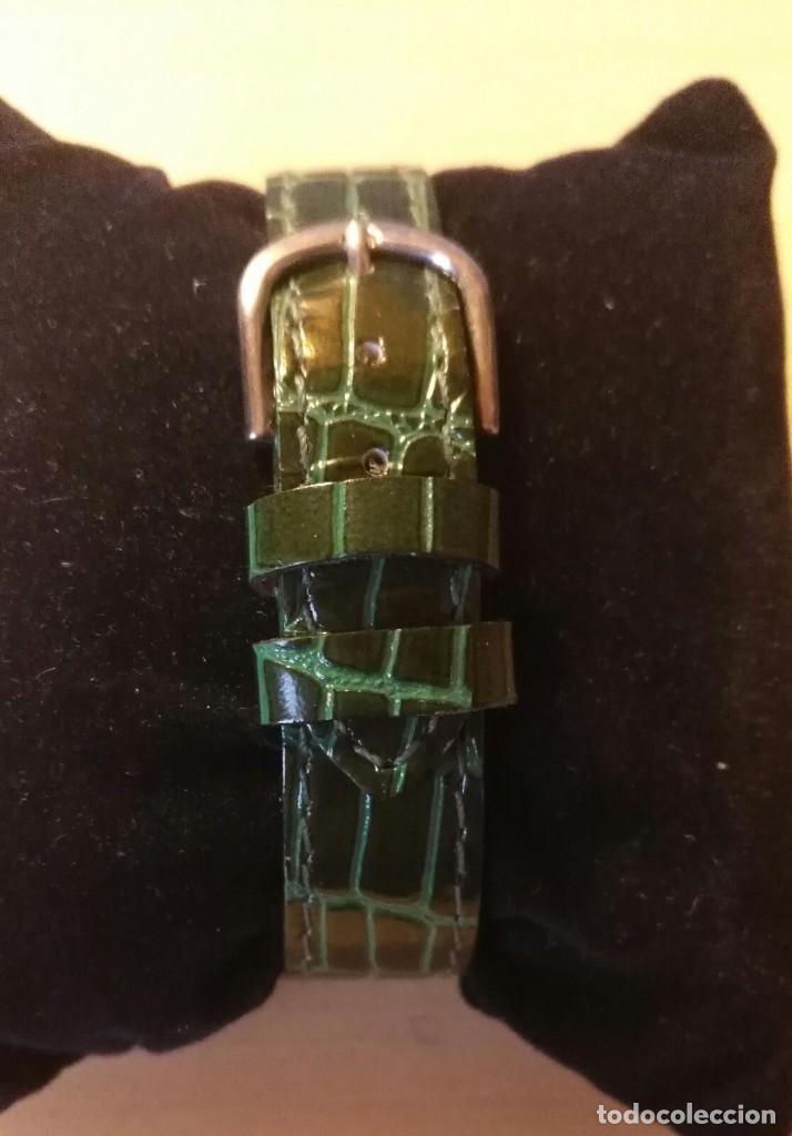 Relojes: Rg 26 Reloj pulsera DOREX Quartz con pila - Correo acharolada verde - No funciona - Pila gastada?? - Foto 3 - 193324082