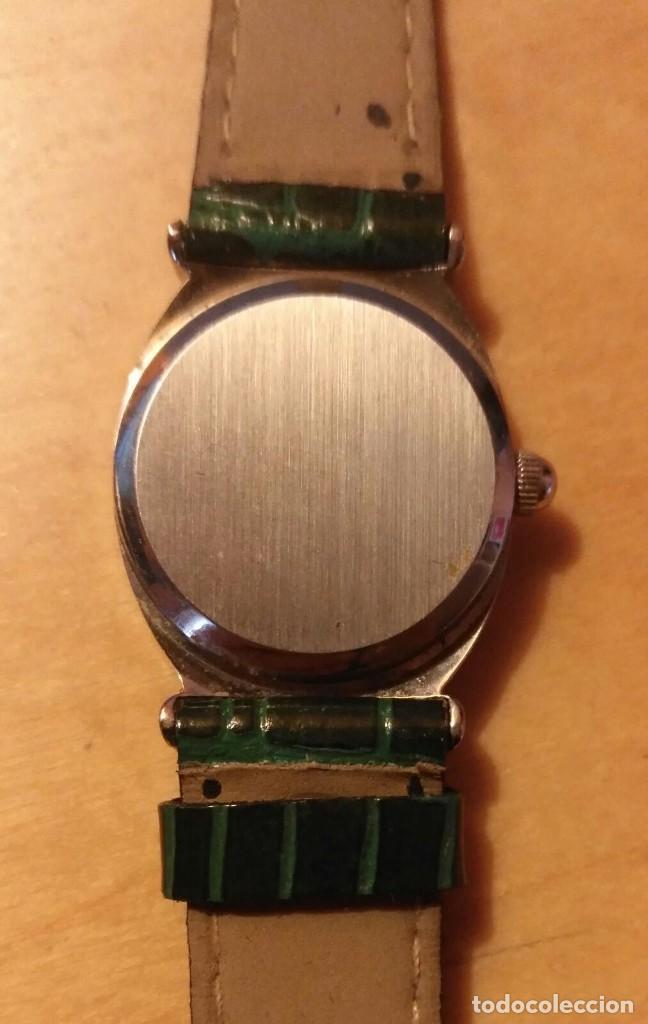 Relojes: Rg 26 Reloj pulsera DOREX Quartz con pila - Correo acharolada verde - No funciona - Pila gastada?? - Foto 4 - 193324082