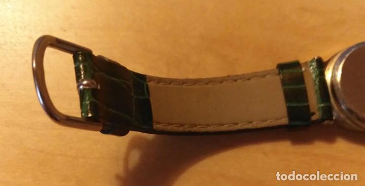 Relojes: Rg 26 Reloj pulsera DOREX Quartz con pila - Correo acharolada verde - No funciona - Pila gastada?? - Foto 5 - 193324082