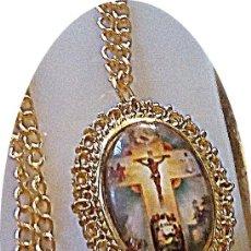 Relojes: RELOJ COLGANTE IMAGEN JESUS EN CRUZ.. Lote 193630876