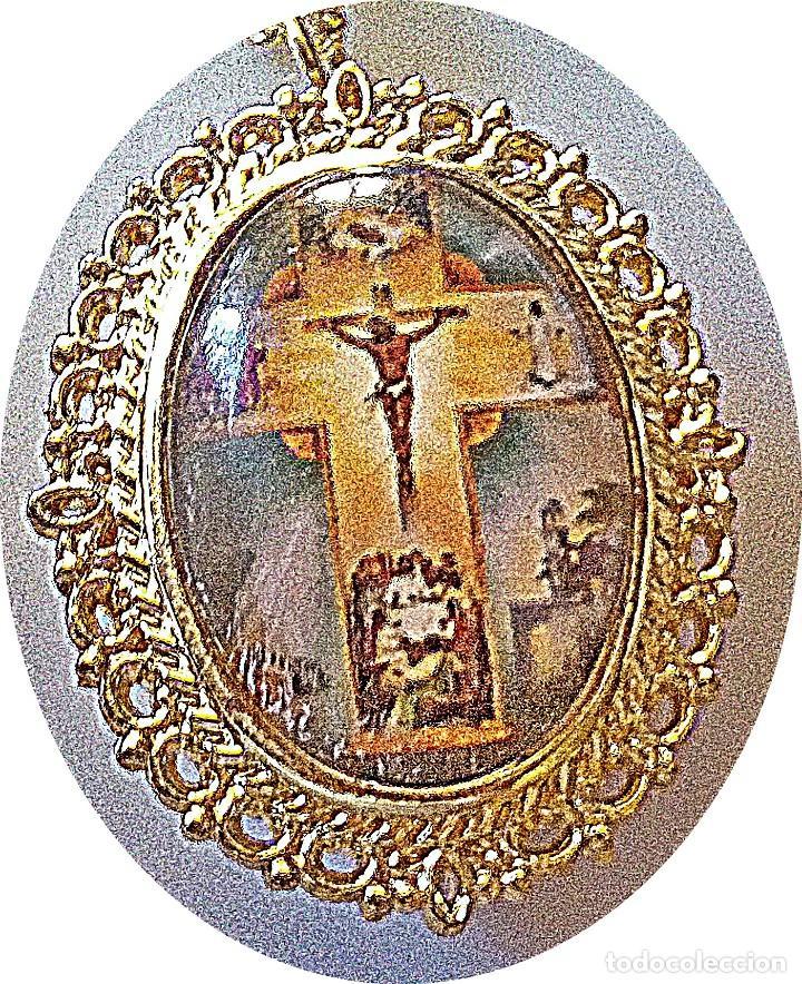 Relojes: RELOJ COLGANTE IMAGEN JESUS EN CRUZ. - Foto 2 - 193630876
