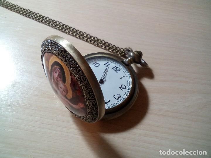 Relojes: RELOJ BOLSILLO VIRGEN MARIA Y NIÑO - Foto 2 - 239689510