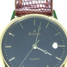 Relojes: ORO 750 RELOJ DE ORO DE 18 KT, CUARZO BULOVA DORADO, FECHA PERFECTA COMO CAJA. Lote 193973730