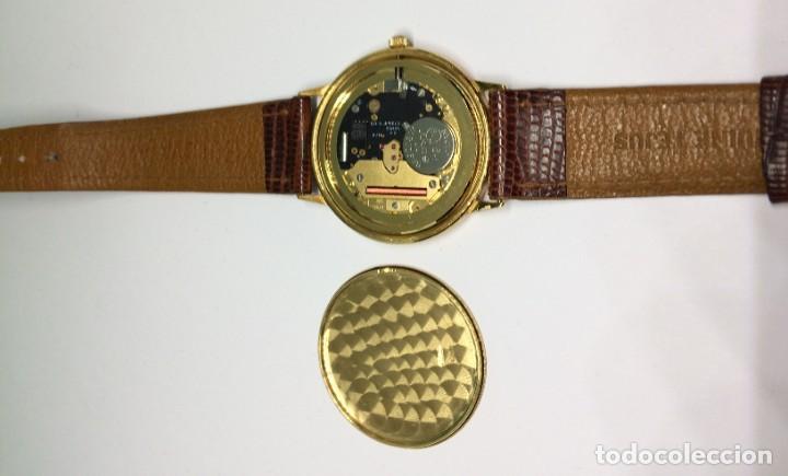 Relojes: Oro 750 Reloj de oro de 18 kt, cuarzo bulova dorado, fecha perfecta como caja - Foto 2 - 193973730