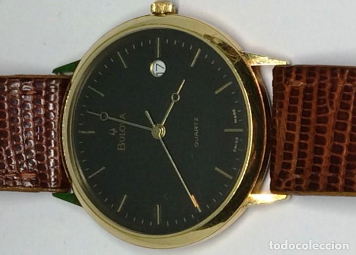 Relojes: Oro 750 Reloj de oro de 18 kt, cuarzo bulova dorado, fecha perfecta como caja - Foto 3 - 193973730