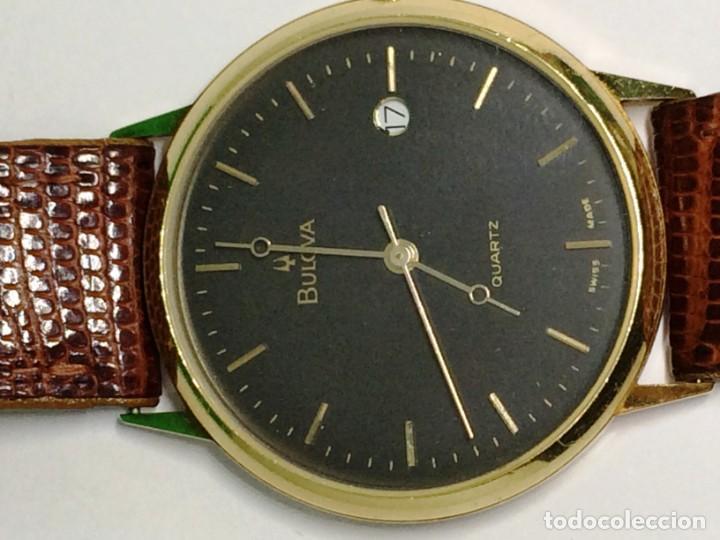 Relojes: Oro 750 Reloj de oro de 18 kt, cuarzo bulova dorado, fecha perfecta como caja - Foto 5 - 193973730