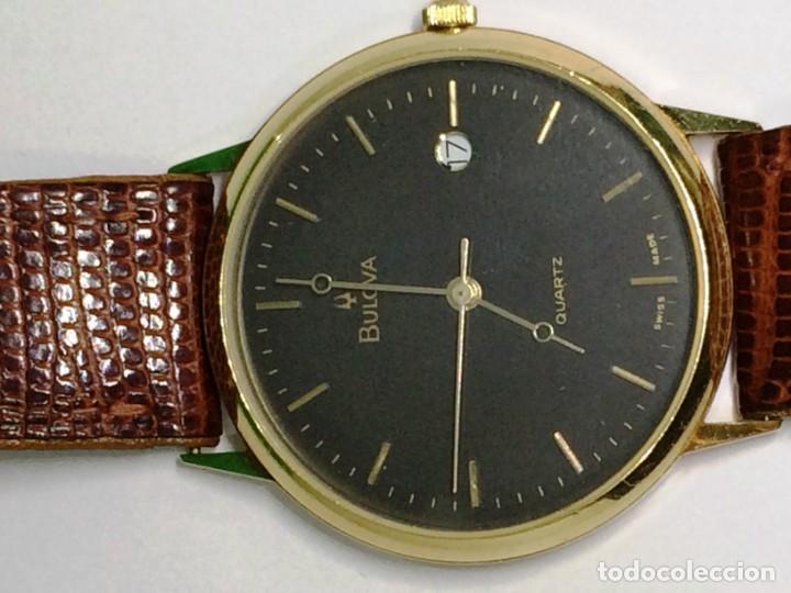 Relojes: Oro 750 Reloj de oro de 18 kt, cuarzo bulova dorado, fecha perfecta como caja - Foto 6 - 193973730