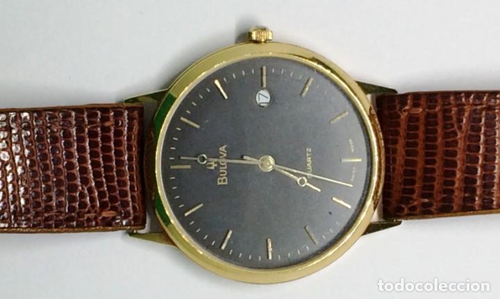 Relojes: Oro 750 Reloj de oro de 18 kt, cuarzo bulova dorado, fecha perfecta como caja - Foto 21 - 193973730