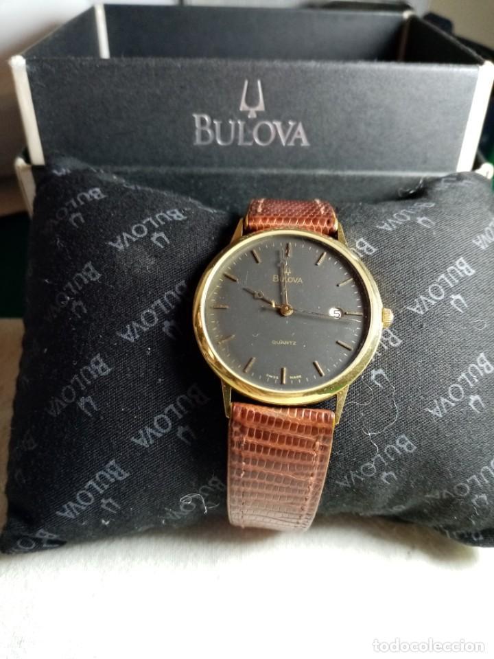 Relojes: Oro 750 Reloj de oro de 18 kt, cuarzo bulova dorado, fecha perfecta como caja - Foto 33 - 193973730
