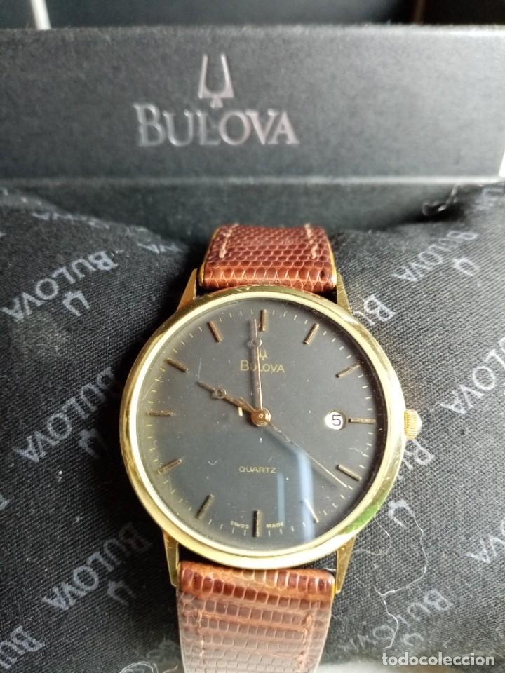 Relojes: Oro 750 Reloj de oro de 18 kt, cuarzo bulova dorado, fecha perfecta como caja - Foto 34 - 193973730