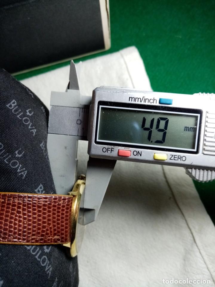 Relojes: Oro 750 Reloj de oro de 18 kt, cuarzo bulova dorado, fecha perfecta como caja - Foto 39 - 193973730