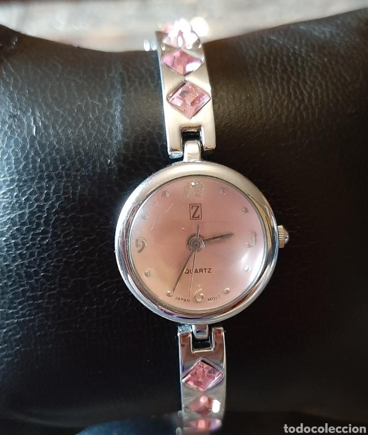 Relojes: Precioso reloj mujer color plata cromada y rosa . - Foto 2 - 194011227