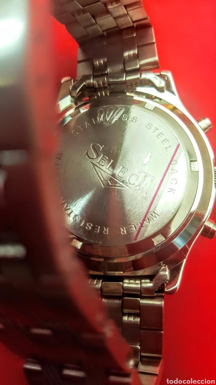 Relojes: RELOJ SELECT CRONOGRAFO CALENDARIO WATER RESISTEN 5 ATM CUARZO NUEVO SIN ESTRENAR FUNCIONA PERFECT - Foto 8 - 194216128