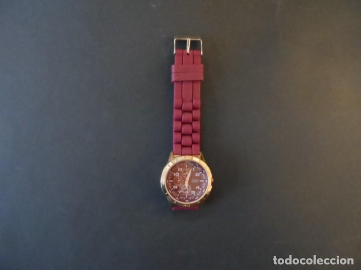 Relojes: RELOJ CORREA CAUCHO GRANATE Y ACERO ORO ROSA. LOUIS VALENTIN. ESFERA GRANATE SIGLO XXI - Foto 6 - 194287863