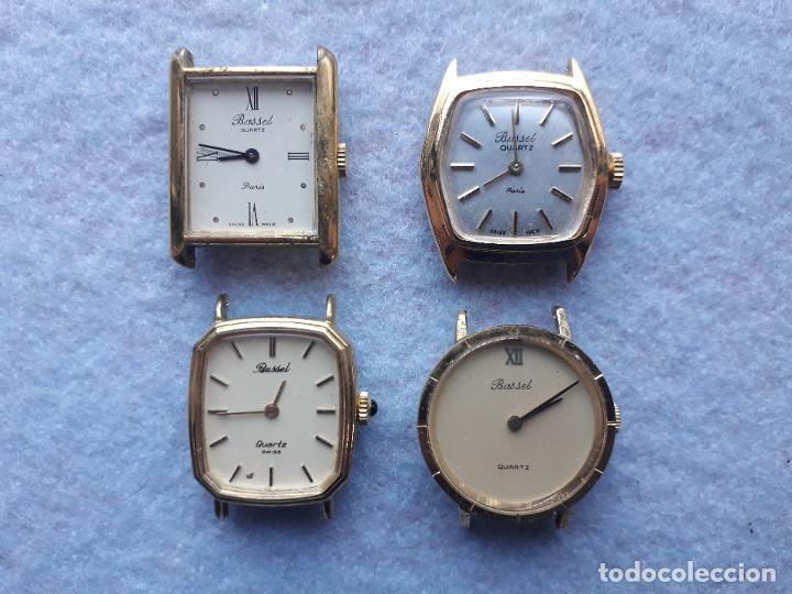LOTE DE 4 RELOJES MARCA BASSEL CUARZ PARA DAMA. SWISS MADE (Relojes - Relojes Actuales - Otros)
