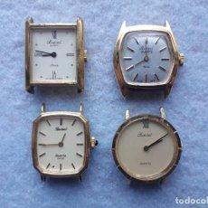 Relojes: LOTE DE 4 RELOJES MARCA BASSEL CUARZ PARA DAMA. SWISS MADE. Lote 194322813