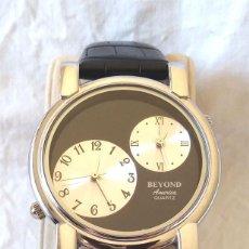 Relojes: RELOJ BEYOND DOBLE ESFERA CUARZO, NUEVO A ESTRENAR. Lote 194361327
