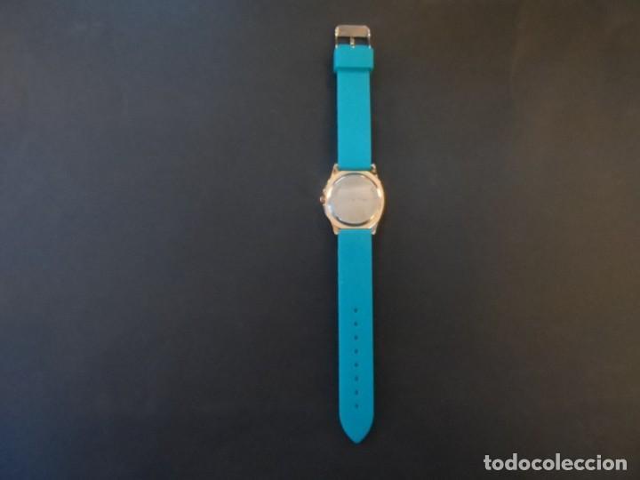 Relojes: RELOJ CORREA CAUCHO AZUL CLARO Y ACERO ORO ROSA. LOUIS VALENTIN. ESFERA AZUL SIGLO XXI - Foto 4 - 194387131