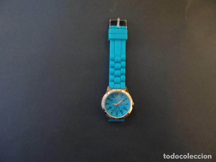 Relojes: RELOJ CORREA CAUCHO AZUL CLARO Y ACERO ORO ROSA. LOUIS VALENTIN. ESFERA AZUL SIGLO XXI - Foto 6 - 194387131