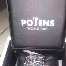Relojes: RELOJ POTENS WORLD TIME EN ACERO. Lote 194390628