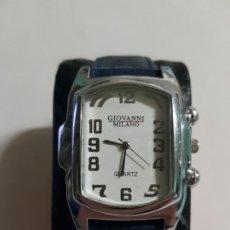 Relojes: GIOVANNI MILANO 37 MMS CUARZO FUNCIONANDO CORRECTAMENTE ESTADO BUENO MAS ARTICULOS. Lote 194540830