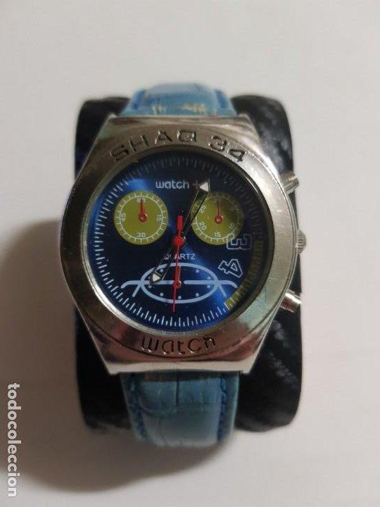 WATCH SHAQ 34 40 MMS CUARZO FUNCIONANDO CORRECTAMENTE ESTADO BUENO MAS ARTICULOS (Relojes - Relojes Actuales - Otros)