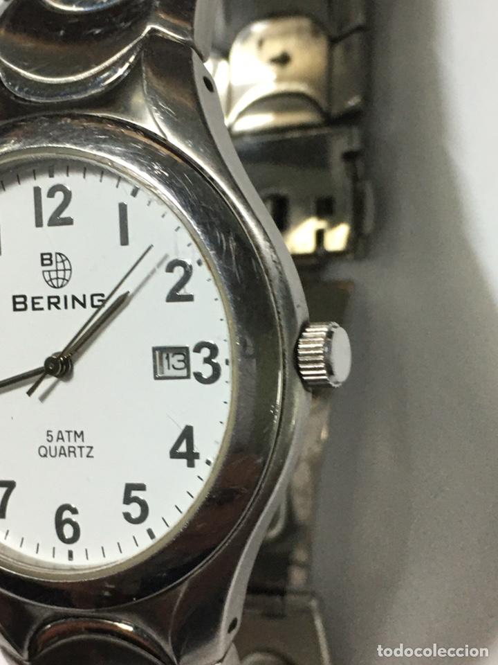 Relojes: Reloj Bering 5 atm Quartz en acero completo como nuevo - Foto 2 - 194584717