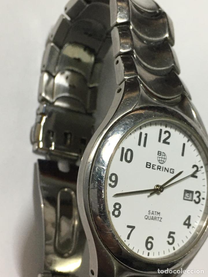 Relojes: Reloj Bering 5 atm Quartz en acero completo como nuevo - Foto 3 - 194584717
