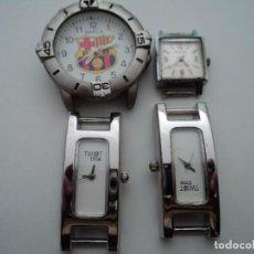 Relojes: 4 RELOJES TRES DE PILA, UNO DUWARD DIPLOMATIC CARGA MANUAL NO FUNCIONA. Lote 194590488