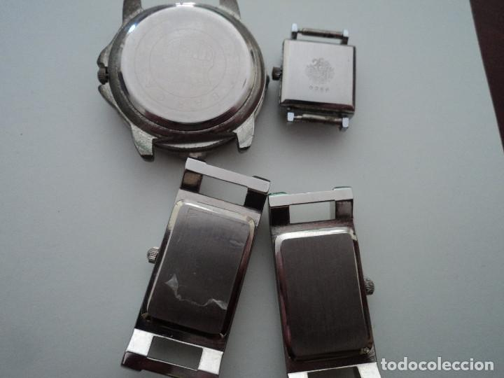Relojes: 4 relojes tres de pila, uno duward diplomatic carga manual no funciona - Foto 2 - 194590488