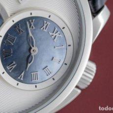 Relojes: RELOJ LUJO KORLOFF CON ZAFIRO, MADREPERLA Y PIEL DE COCODRILO ORIGINAL. Lote 194650505
